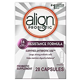 Align Probiotics Supplement, Resistance Formula for Digestive Balance – Survives Antibiotic Use, 28 Capsules