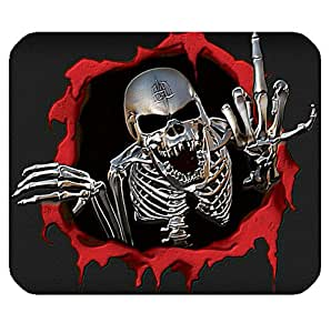 Computer Non-Slip Rubber Mouse mat with Scared Skull theme