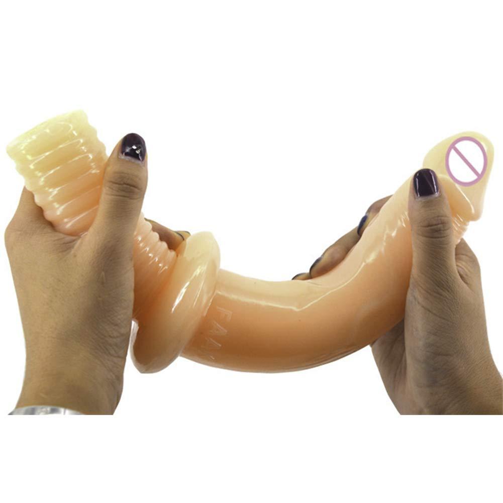 Manejar Consoladores Suave PVC Grande Femenino Masturbación Super Grande PVC Realista Dong Juguetes Sexuales Para Mujeres,Flesh 9d39d5