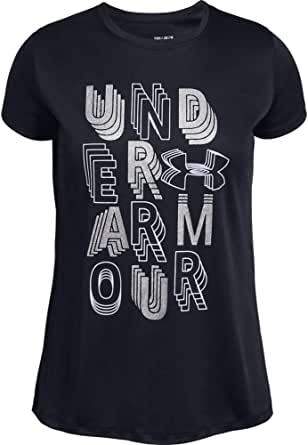 Under Armour Linear Wordmark SS Camiseta Niñas