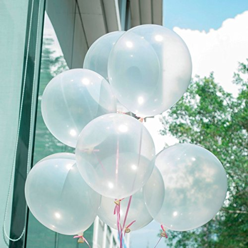100Pcs X10  Transparent Latex Balloons Birthday Wedding Celebration Party Decor