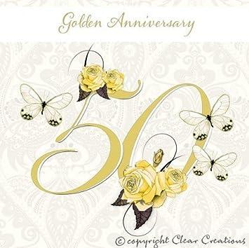 golden wedding card 50th wedding anniversary amazon co uk office