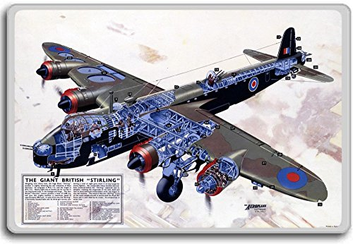 Giant British Stirling - Vintage War Airplanes fridge magnet