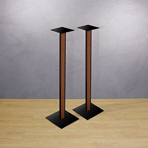 Bell'O SP211 Speaker Stands with Cherry Finish Wood Inlay