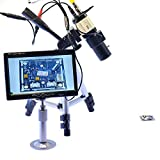 Aihome Varifocus Lens 800TVL Industrial Microscope BNC Camera For BGA PCB Soldering PAL 5mm-50mm Zoom Lens