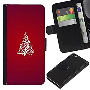 All Phone Most Case / Oferta Especial Cáscara Funda de cuero Monedero Cubierta de proteccion Caso / Wallet Case for Apple Iphone 6 // Christmas Tree Red White Stylish Purple