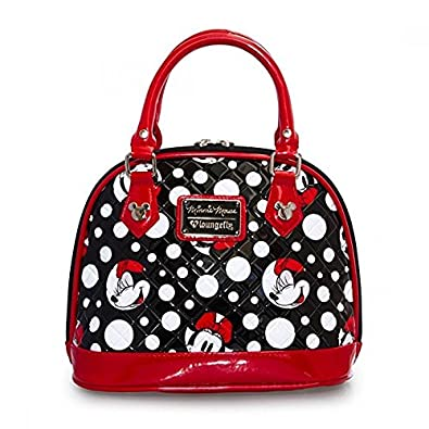 a5dadf776ab0 Loungefly Disney Minnie Mouse Polka Dot Quilted Dome: Handbags: Amazon.com