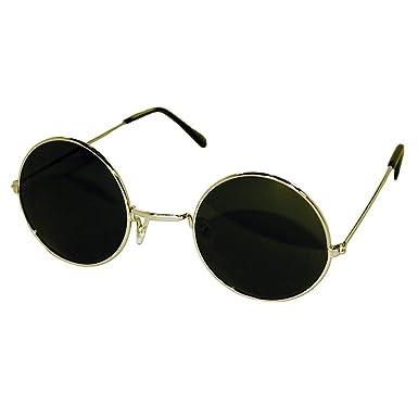 158f8fe57caba Hippie sunglasses-VINTAGE John Lennon-style round TEASHADES man woman  UNISEX sunglasses - GOLD   Black  Amazon.co.uk  Clothing