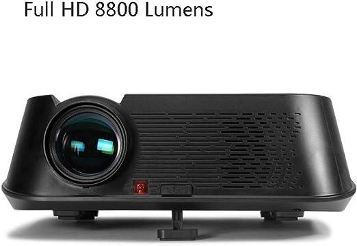 QLPP Mini proyector de Uso en el hogar, 8800 lúmenes HD 1080P ...