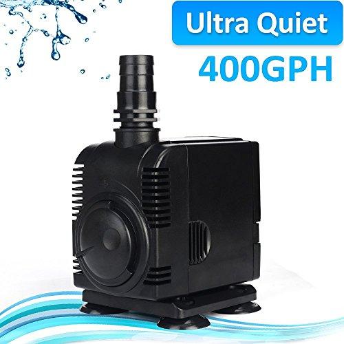 JAD 400 GPH (1500L/H) Submersible Water Pump Professional Ultra-quiet Water Pump for Aquarium,Garden,Pond,Fish Tank, Fountain