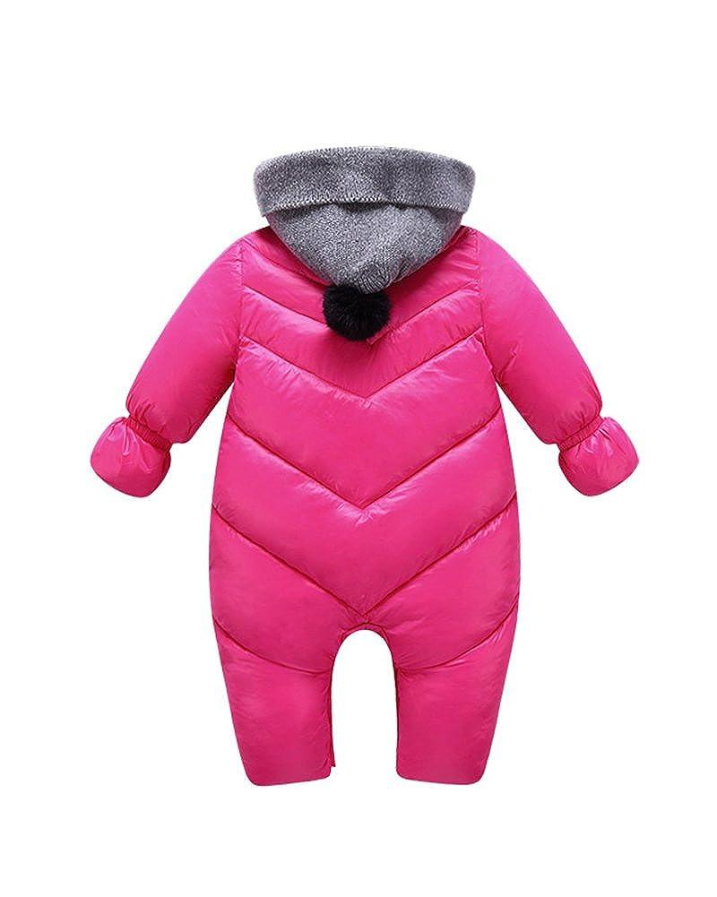 Kasen B/éb/é Gar/çon Fille Hiver Chaud Anti-Vent Manteau Fermeture /éclair /à Capuche Bonnet