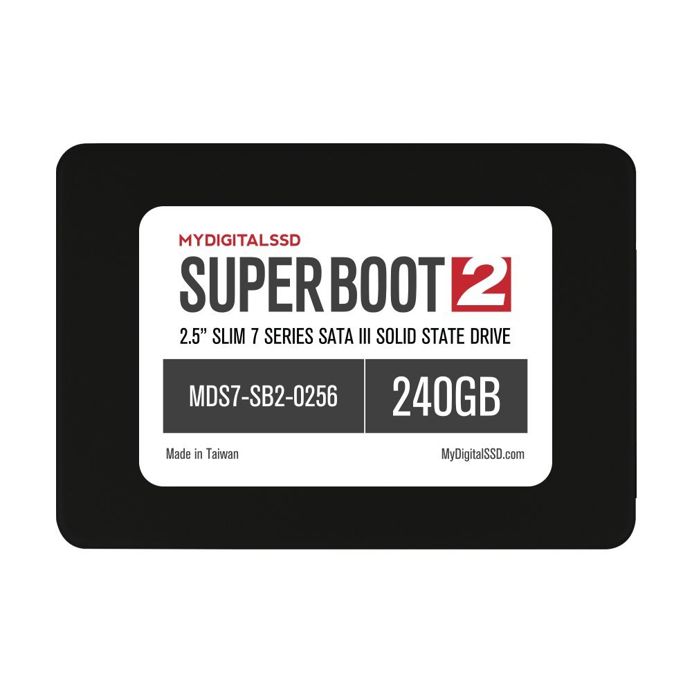 MyDigitalSSD Super Boot 2 (SB2) Slim 7 Series (7mm) 2.5'' SATA III (6G) SSD Solid State Drive (256GB (240GB))
