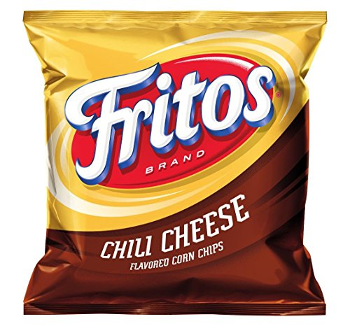 Fritos Corn Chips, Chili Cheese, 2-Ounce Large Single Serve Bags (Pack of 64)