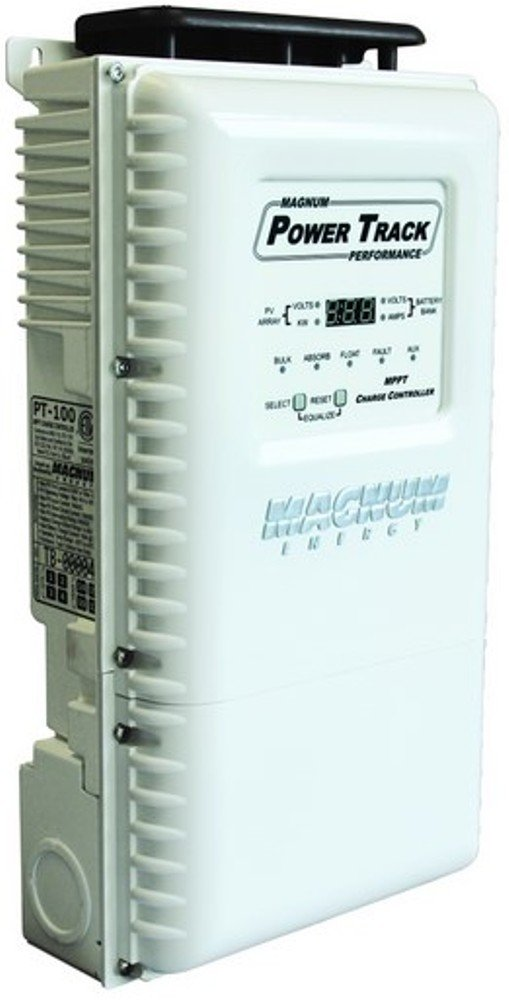 Magnum PT-100 Solar Cell Charge Controller, Designed to work with a Magnum Panel (MP) or Mini-Magnum Panel (MMP), MPPT Maximum Power Point Tracking technology for increased PV power output efficiency
