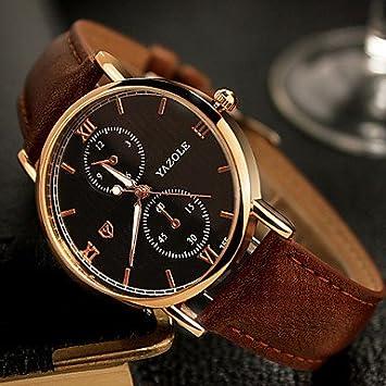 Fashion Watches Relojes Hermosos, YAZOLE Hombre Reloj de Vestir Reloj de Pulsera Cuarzo/Cuero
