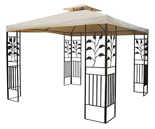 Metall Pavillon Ranke 3 x 3 m WASSERDICHT in versch. Farben (BEIGE)