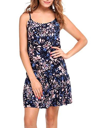 90s floral print dress - 4