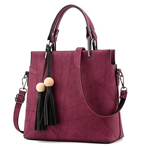 Women Retro Winered Retro Fashion Tassel Bag Bag Dhfud Shoulder Fitting Messenger cpHzq4fS