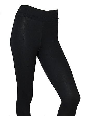 nuevo estilo 27eca d63a9 Womens Leggings High Waisted Long Black Leggins Super Quality Stretch  Elastane