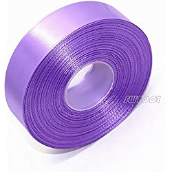 "Selling Wonderful 1.5"" Single Face Satin Ribbon 50 Yards Roll for Gift Wrap Sewing Projects Crafting Projects DIY Bow Wedding Decoration (Violet)"