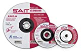 United Abrasives-SAIT 20073 Type 27 5-Inch x 1/4-Inch x 7/8-Inch, Grade A24R Long Life Depressed Center Grinding Wheels, 25-Pack
