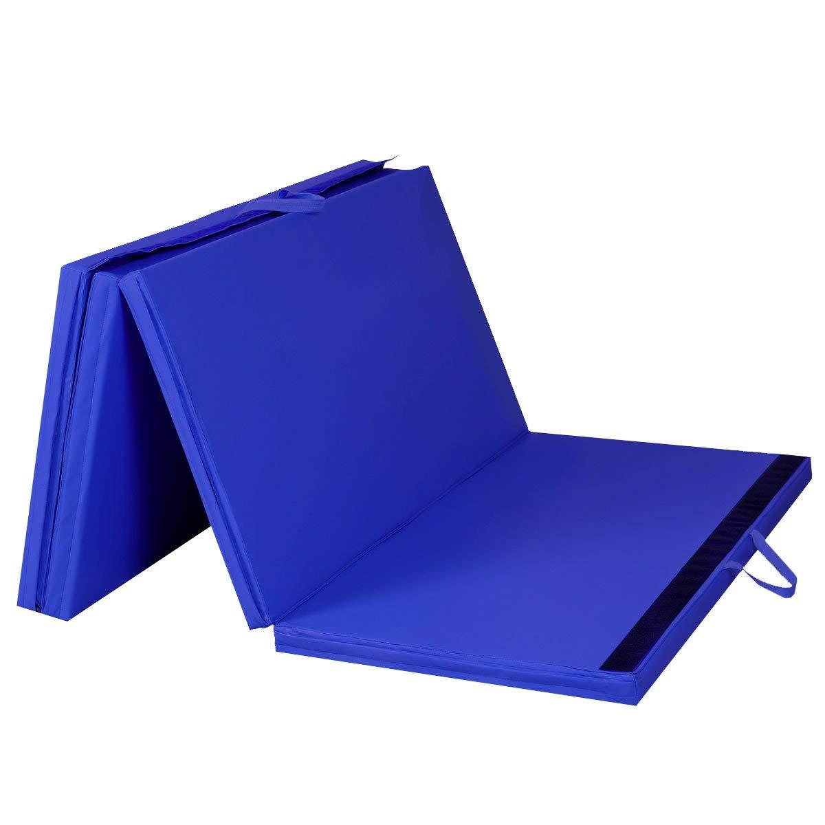 Mat Expert ブルー 4フィート×8フィート×2インチ 厚手折りたたみパネル式体操マット  ジム フィットネス エクササイズ マット B00R3XAR5K
