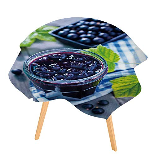 PINAFORE 100% Polyester Printed Table Black Currant jam for Home, Restaurants, Cafés 71