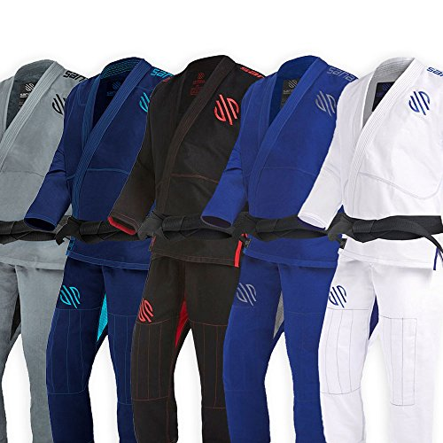 Sanabul Essentials v.2 Ultra Light Pre Shrunk BJJ Jiu Jitsu Gi (A2, White) See Special Sizing Guide