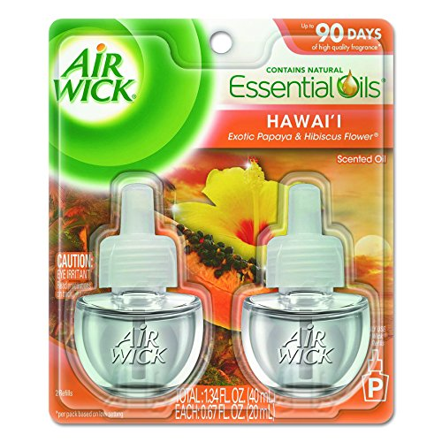 Reckitt & Benckiser Air Wick - Air Wick Scented Oil 12 Refills, Hawaii, (6X2x.67oz), Air Freshener