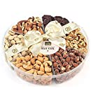 Oh! Nuts 6-section Roasted Holiday Nuts Basket - 2 LB Tray