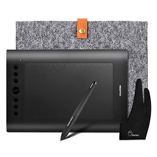HUION H610 Pro Graphics Drawing Tablet + Anti-fouling Golve