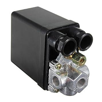 Válvula De Control 90-120Psi Del Interruptor De Presión Del Compresor De Aire Resistente LaDicha: Amazon.es: Hogar