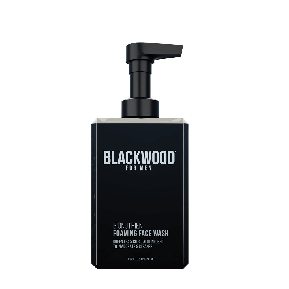 Blackwood For Men Cooling Clay Facial Wash (T) (7.41 oz) Hyaluronic Acid Hydrating Serum 100 % Pure All Natural Vegan Alcogol Free 1 oz