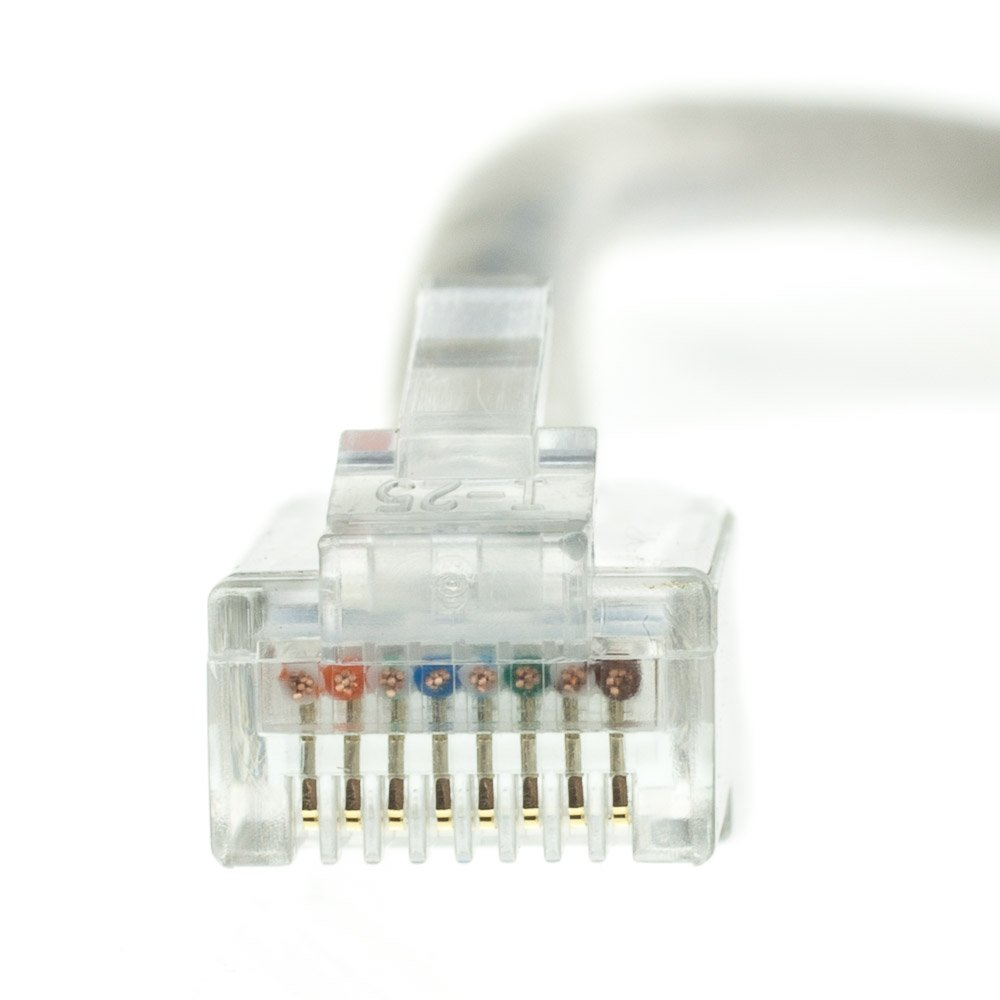 Cat5e Gray Ethernet Patch Cable Pack of 5 by Konnekta Cable 20 Foot Bootless