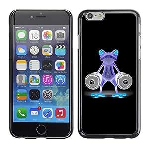"For Apple Iphone 6 Plus / 6S Plus ( 5.5 ) , S-type Divertido Gimnasio Bodybuilder de neón de la rana"" - Arte & diseño plástico duro Fundas Cover Cubre Hard Case Cover"