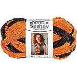 Coats Yarn Red Heart Boutique Sashay Team Spirit Yarn, Orange/Black