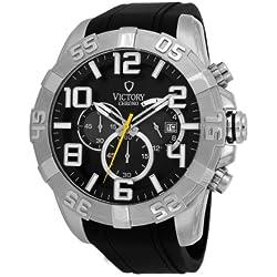 Victory V-Monarch Japanese Quartz Black Dial Men's Watch