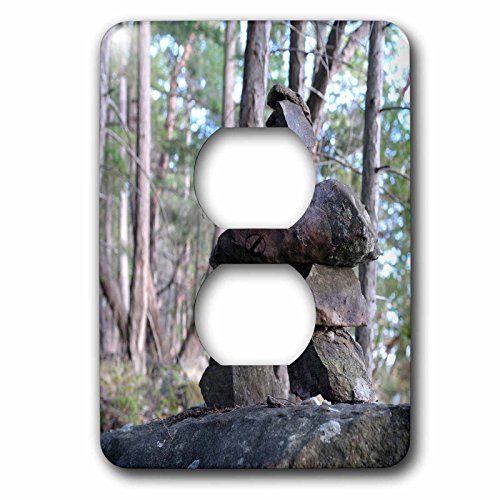 Danita Delimont - Canada - Canada, British Columbia, Wallace Island. Inukshuk - Light Switch Covers - 2 plug outlet cover - Canada Wallace