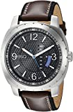 ESQ Men's ' Quartz Stainless Steel and Leather Casual Watch, Color:Brown (Model: 37ESQE11001A)