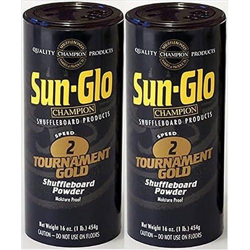 60%OFF Sun-Glo Twin Pack of 2 Speed Shuffleboard Powder Wax