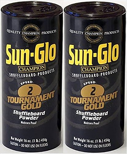 Twin Pack of Sun-Glo #2 Speed Shuffleboard Powder Wax (Sun Serious)
