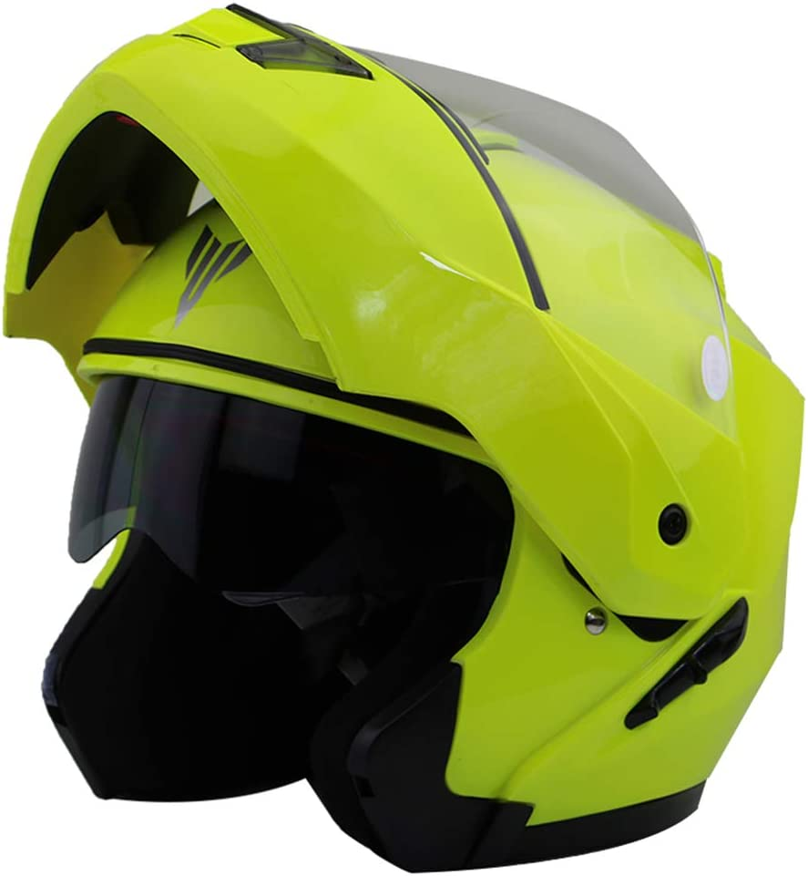 Adult Full Face Motorbike Helmet,Antifogging Double Lens Motorcycle Helmet,Off Road Motocross Safety Caps 55-63cm