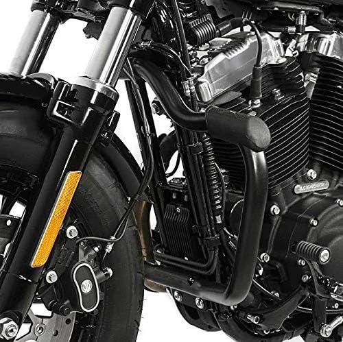 dal 2004 al 2010 Barra Barre Tubo Paramotore Paragambe Protezione Anti-caduta Anti-urto Engine Guard Nero MUSTACHE x Moto Harley Davidson Sportster 883 Low XL 883 L