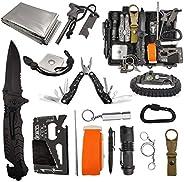 Survive Hero Survival Gear Kit – 18 in 1 Emergency EDC Outdoor Gear – Cool Gadgets Sets Ideas for Men Dad Husb