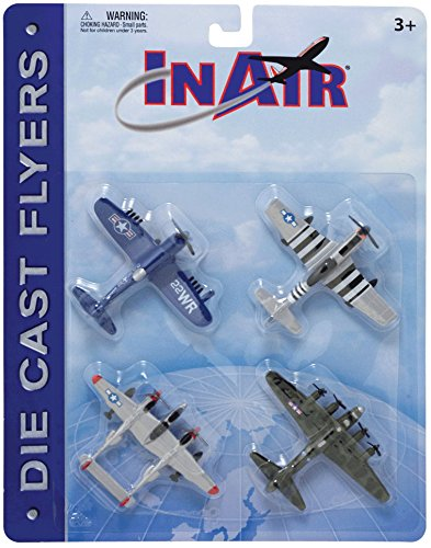 InAir Die Cast World War II Warbirds 4 Piece Set for sale  Delivered anywhere in USA