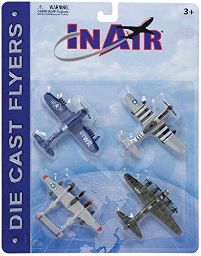 InAir Die Cast World War II Warbirds 4 Piece Set (Best Airplane In The World)