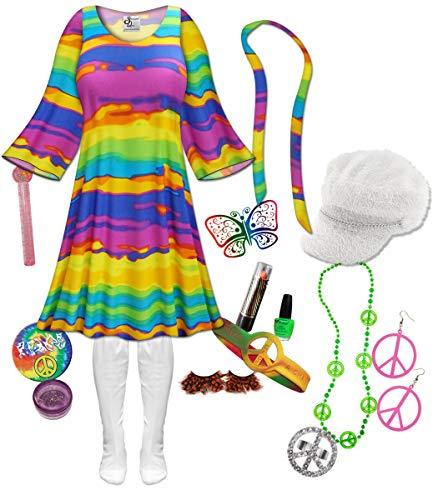 Rainbow Gogo Dancer Plus Size Halloween Costume Deluxe