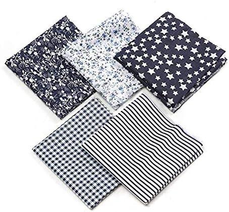 Aplogize Patchwork Fait /à La Main en Tissu De Couture De Courtepointe en Coton Uni Carr/é 5 pi/èces