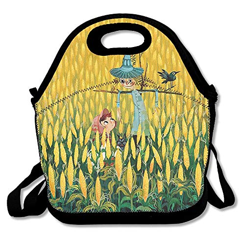 Lunch Tote Boy And Scarecrow Lunch Boxes Lunch Bags Handbag Food Storage Fits For School Travel Work Outdoor