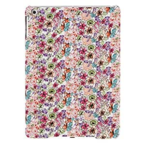 Colorful Flowers Pattern Textile Hard Case for iPad Air